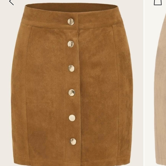 Dresses & Skirts - Brand new suede skirt